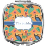Toucans Compact Makeup Mirror (Personalized)