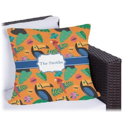 Toucans Outdoor Pillow (Personalized)