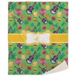Luau Party Sherpa Throw Blanket (Personalized)
