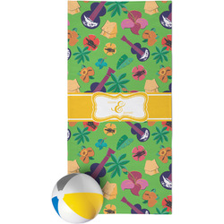 Luau Party Beach Towel (Personalized)