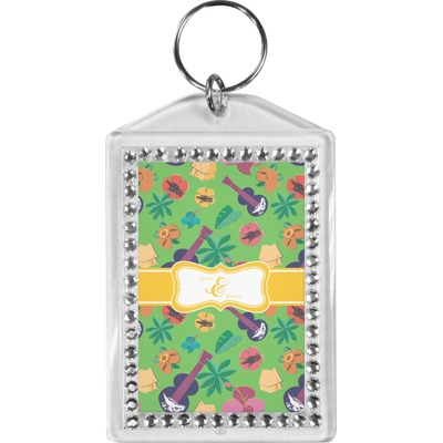 Luau Party Bling Keychain (Personalized)