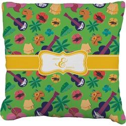 """Luau Party Faux-Linen Throw Pillow 26"""" (Personalized)"""