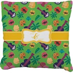Luau Party Faux-Linen Throw Pillow (Personalized)