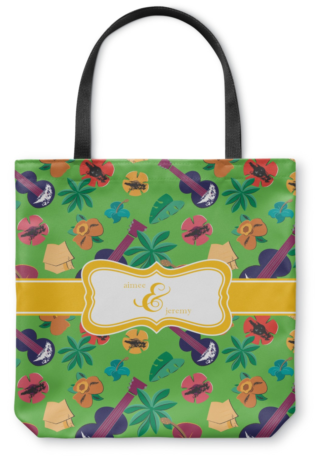 Luau Party Canvas Tote Bag Personalized Youcustomizeit