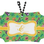 Luau Party Rear View Mirror Ornament (Personalized)