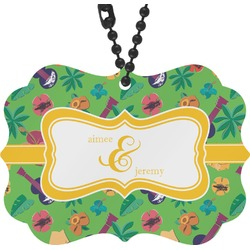 Luau Party Rear View Mirror Decor (Personalized)