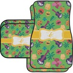 Luau Party Car Floor Mats Set - 2 Front & 2 Back (Personalized)