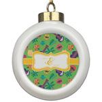 Luau Party Ceramic Ball Ornament (Personalized)