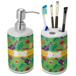 Luau Party Bathroom Accessories Set (Ceramic) (Personalized)