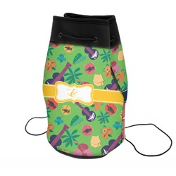 Luau Party Neoprene Drawstring Backpack (Personalized)