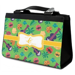 Luau Party Classic Tote Purse w/ Leather Trim (Personalized)