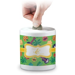 Luau Party Coin Bank (Personalized)