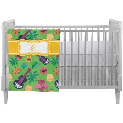 Luau Party Crib Comforter / Quilt (Personalized)