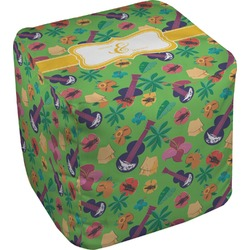 "Luau Party Cube Pouf Ottoman - 18"" (Personalized)"