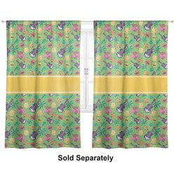 "Luau Party Curtains - 20""x84"" Panels - Lined (2 Panels Per Set) (Personalized)"