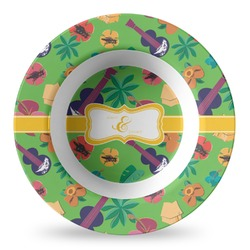 Luau Party Plastic Bowl - Microwave Safe - Composite Polymer (Personalized)