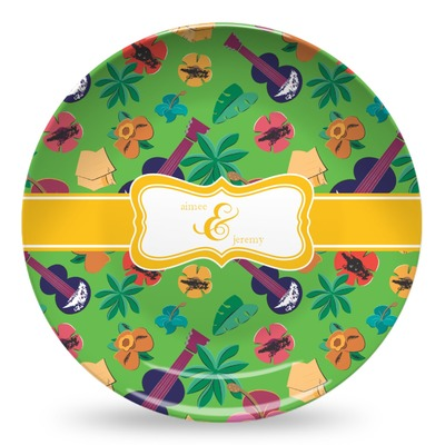 Luau Party Microwave Safe Plastic Plate - Composite Polymer (Personalized)