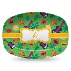 Luau Party Plastic Platter - Microwave & Oven Safe Composite Polymer (Personalized)