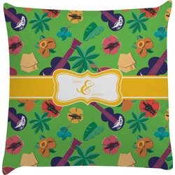 Luau Party Decorative Pillow Case (Personalized)