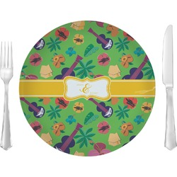 """Luau Party Glass Lunch / Dinner Plates 10"""" - Single or Set (Personalized)"""