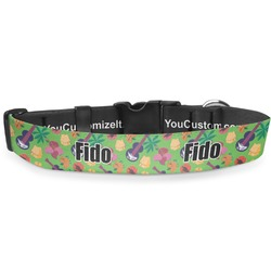 """Luau Party Deluxe Dog Collar - Small (8.5"""" to 12.5"""") (Personalized)"""