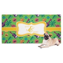 Luau Party Dog Towel (Personalized)