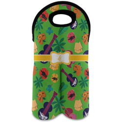 Luau Party Wine Tote Bag (2 Bottles) (Personalized)