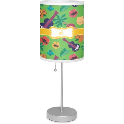 """Luau Party 7"""" Drum Lamp with Shade (Personalized)"""