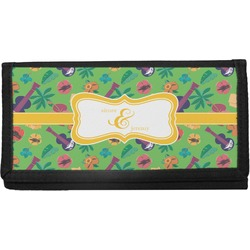Luau Party Canvas Checkbook Cover (Personalized)