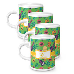 Luau Party Espresso Mugs - Set of 4 (Personalized)