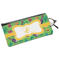 Luau Party Genuine Leather Eyeglass Case (Personalized)