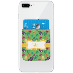 Luau Party Genuine Leather Adhesive Phone Wallet (Personalized)