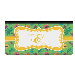Luau Party Genuine Leather Checkbook Cover (Personalized)