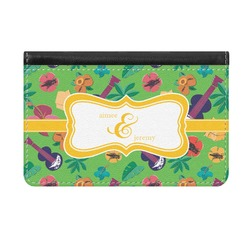 Luau Party Genuine Leather ID & Card Wallet - Slim Style (Personalized)