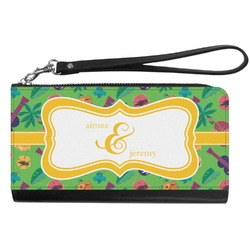 Luau Party Genuine Leather Smartphone Wrist Wallet (Personalized)