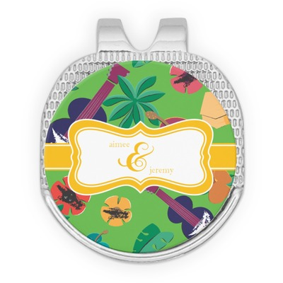 Luau Party Golf Ball Marker - Hat Clip - Silver