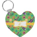 Luau Party Heart Keychain (Personalized)