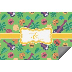Luau Party Indoor / Outdoor Rug - 6'x9' (Personalized)