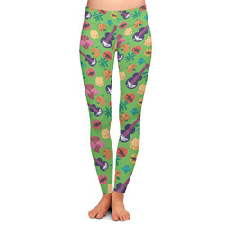 Luau Party Ladies Leggings - Large (Personalized)