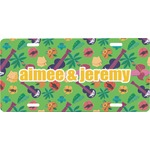 Luau Party Front License Plate (Personalized)