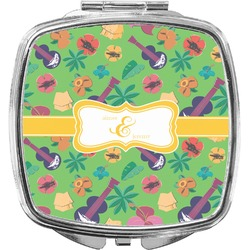 Luau Party Compact Makeup Mirror (Personalized)