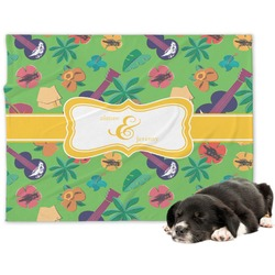 Luau Party Minky Dog Blanket - Large  (Personalized)