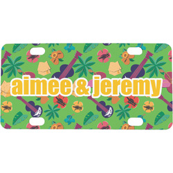 Luau Party Mini / Bicycle License Plate (Personalized)