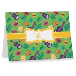 Luau Party Note cards (Personalized)
