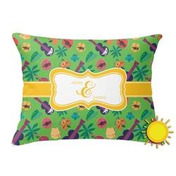 Luau Party Outdoor Throw Pillow (Rectangular) (Personalized)