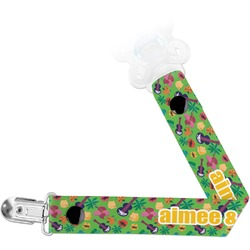 Luau Party Pacifier Clips (Personalized)