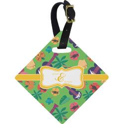 Luau Party Diamond Luggage Tag (Personalized)