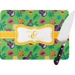 Luau Party Rectangular Glass Cutting Board (Personalized)