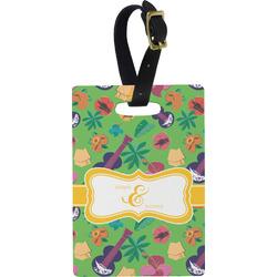 Luau Party Rectangular Luggage Tag (Personalized)