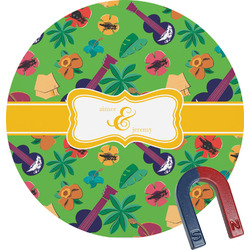 Luau Party Round Magnet (Personalized)